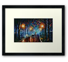 MISTY MOOD limited edition giclee of L.AFREMOV painting Framed Print