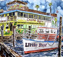 Clearwater Florida Boat Painting by derekmccrea
