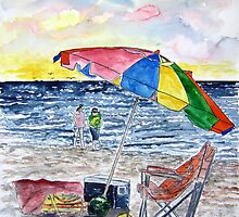 Clearwater Florida Beach Painting by derekmccrea