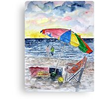 Clearwater Florida Beach Painting Canvas Print