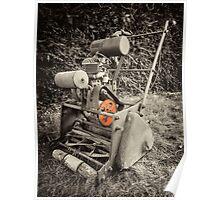 Vintage Mower  Poster