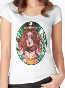 Videogame Babes #1 Women's Fitted Scoop T-Shirt