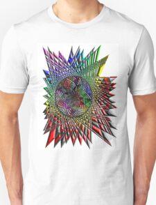 Flower Mandala Embossed T-Shirt
