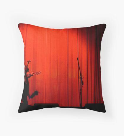 Curtain raise Throw Pillow