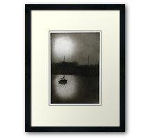 Frozen Annapolis Harbor Framed Print