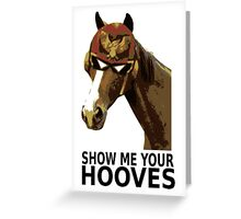Captain Falcon Horse Greeting Card