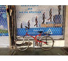 Chandigarh Bicycle, storefront Photographic Print