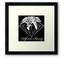 California shining white Framed Print