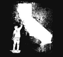 California Wall tagger white by krisalanapparel