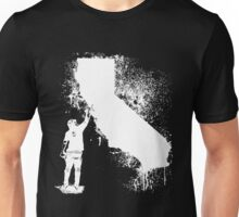 California Wall tagger white Unisex T-Shirt