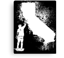 California Wall tagger white Canvas Print