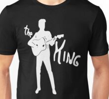 the king of rock on dark Unisex T-Shirt