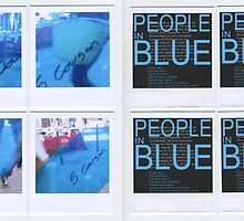 People in Blue #1  by Pascale Baud