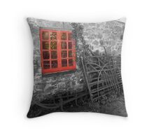 red window ... Throw Pillow