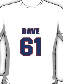 National football player Dave Drechsler jersey 61 T-Shirt