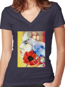 Opiate Women's Fitted V-Neck T-Shirt