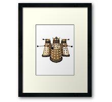 Golden Dalek Trio Framed Print