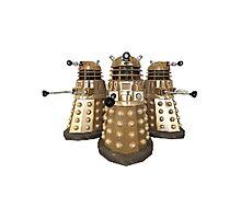 Golden Dalek Trio Photographic Print