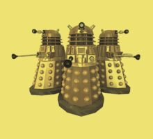 Golden Dalek Trio Kids Clothes