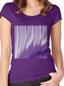 modern cute girly abstract pattern purple Women's Fitted Scoop T-Shirt