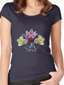 Spring Collage ~ T Women's Fitted Scoop T-Shirt