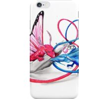 Pink and Blue dragons- Romeo and Juliette iPhone Case/Skin
