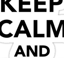 Keep calm and Donkey on Sticker