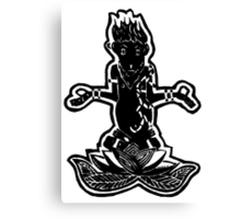 Meditating Monkey Canvas Print