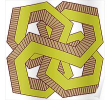 Perspective knot green Poster