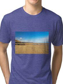 Along Whitby Sands Tri-blend T-Shirt