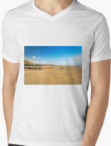 Along Whitby Sands Mens V-Neck T-Shirt