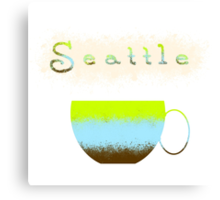 Pacific Northwest Coffee Lovers Canvas Print