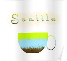 Pacific Northwest Coffee Lovers Poster