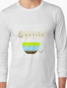 Pacific Northwest Coffee Lovers Long Sleeve T-Shirt