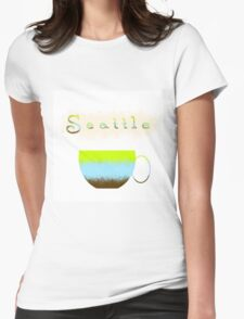 Pacific Northwest Coffee Lovers Womens Fitted T-Shirt