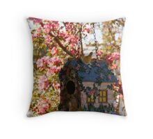 A Little Home for the BIrds. Throw Pillow