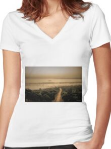 The Mist Women's Fitted V-Neck T-Shirt