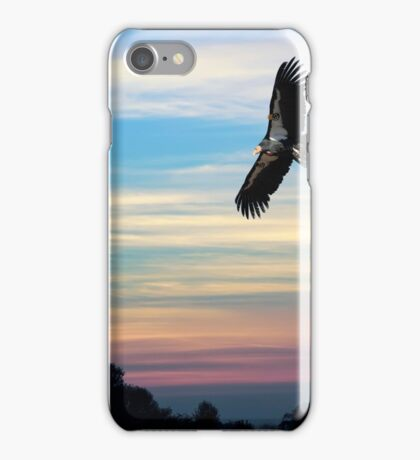 CONDOR FLYING FREE AGAIN over CALIFORNIA iPhone Case/Skin
