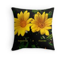 A Twin Thing Throw Pillow