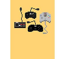 Pixel History - Sega Controllers Photographic Print