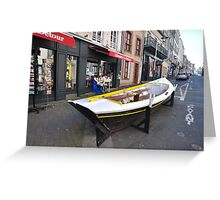Granville, France 2012 - Reading Boat Greeting Card