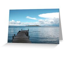 Empty Dock Greeting Card