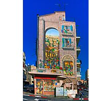 Mural on an Apartment building in Jerusalem Photographic Print
