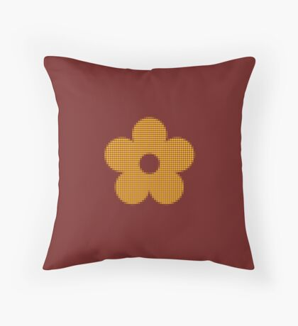 dotted flower Throw Pillow