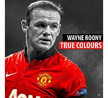 WAYNE ROONEY TRUE COLOURS Photographic Print