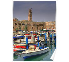 Acre port, Israel Poster
