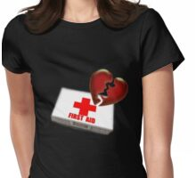 My heart is Damaged Womens Fitted T-Shirt