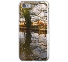 Trees Beside The Wintry Rolleston Pond iPhone Case/Skin