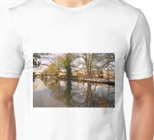 Trees Beside The Wintry Rolleston Pond Unisex T-Shirt