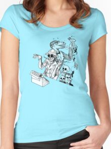 HS Thompson writing Women's Fitted Scoop T-Shirt